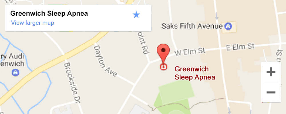 Google map for Greenwich Sleep Apnea